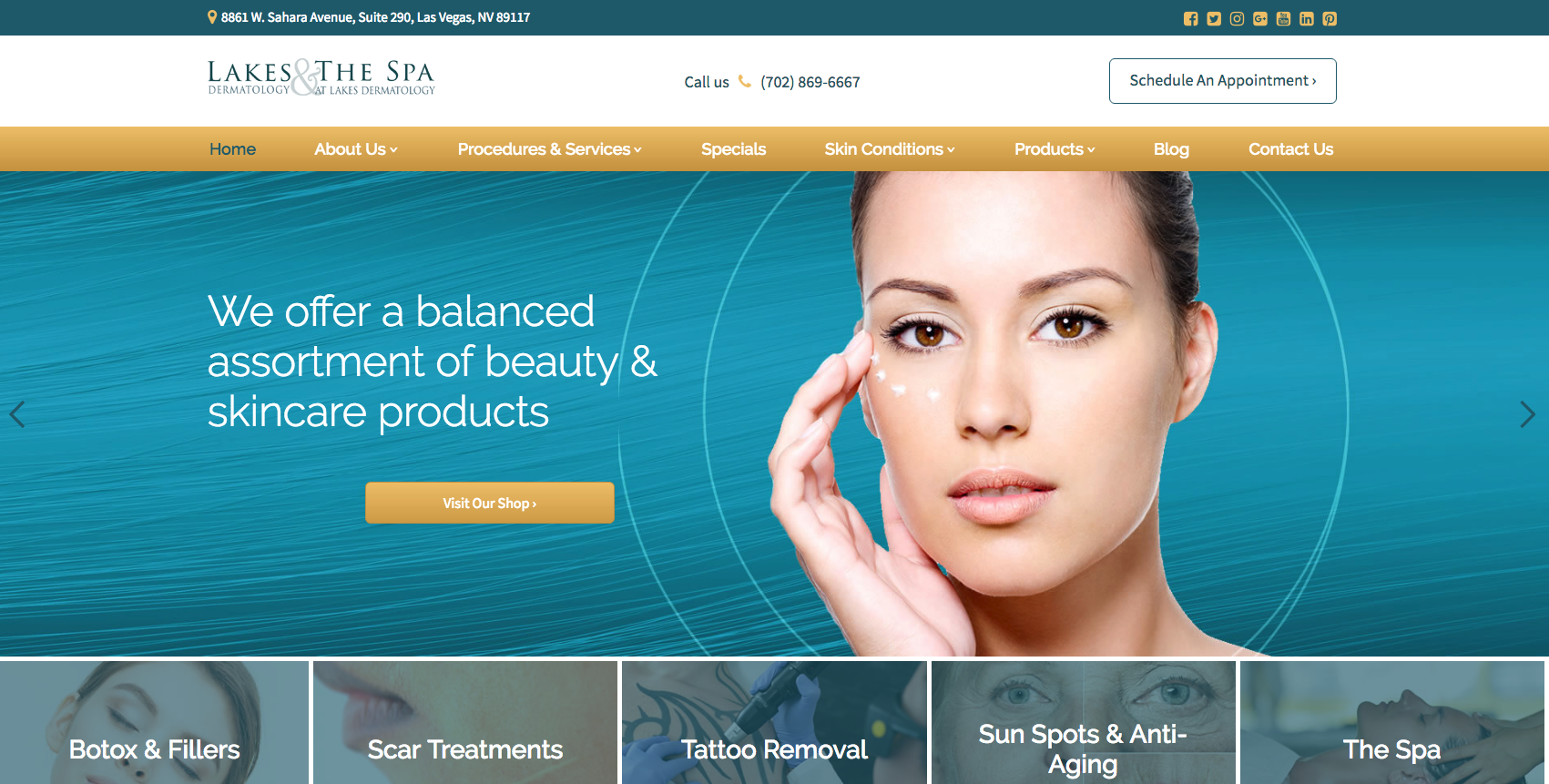 Lakes Dermatology Website & Logo